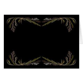 Blank Card with Gold & Black Fractal Border