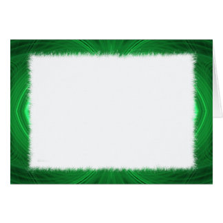 Blank Card with Green Fractal Border