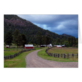 Blank Card with Homestead in Colorado
