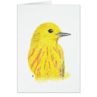 Blank Card - Yellow Warbler