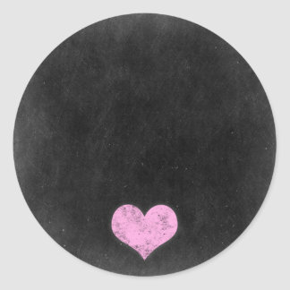 Blank Chalkboard - Customizable Product Packaging Round Sticker