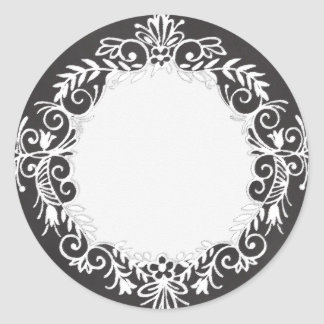 Blank Chalkboard Printed Bottle Canning Jar Label Round Sticker