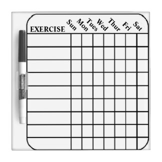 Blank Chart Dry Erase Whiteboard