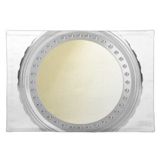 Blank coin placemat