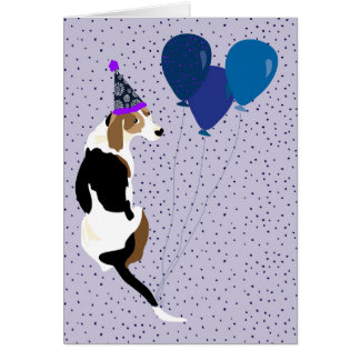 Blank Coonhound  Birthday card