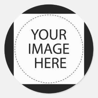 BLANK - CREATE YOUR OWN CUSTOM GIFT ROUND STICKER