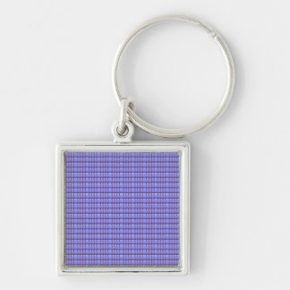 Blank Crystal Template DIY Giveaway Party Gifts Silver-Colored Square Key Ring