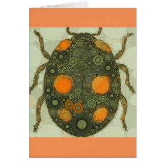 Blank Customizable Scarab Beetle Insect Art Card