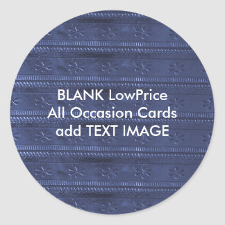 Blank  Customize GoodLuck DIY Templates lowprice Round Sticker