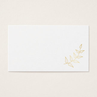 Blank Elegant Gold Laurels Business Card