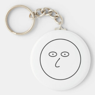 Blank Face - Decorate with dry erase markers! Key Ring