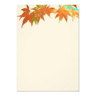 Blank Fall Gold Japanese Maple Leaves Canopy 13 Cm X 18 Cm Invitation Card
