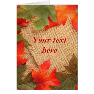 Blank fall textured background card