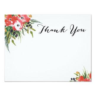 Blank Floral Holiday Thank You Card 11 Cm X 14 Cm Invitation Card