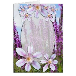 Blank Flowers Card