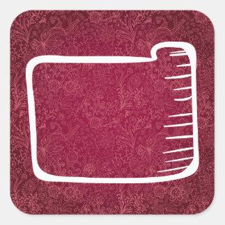 Blank Folders Minimal Square Sticker