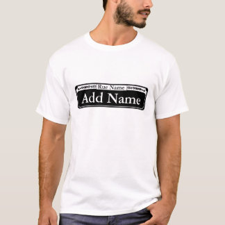 Blank French Quarter Street Sign, Add Name T-Shirt