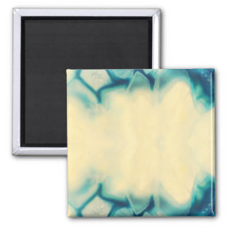 Blank Glamorous Aqua Blue Crystal Save The Date Magnet