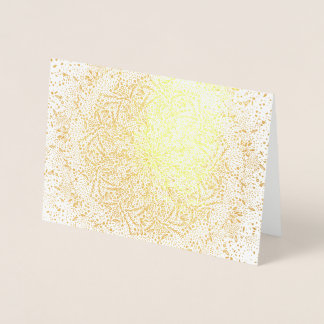 Blank Gold Foil Christmas Holiday Greeting Card