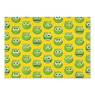 Blank Green Monster Cards 13 Cm X 18 Cm Invitation Card