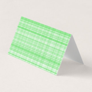 Blank Green Plaid Greeting Cards