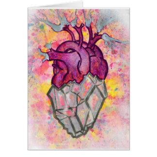 Blank Greeting Card Anatomical Heart