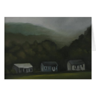 Blank Greeting Card Catskill Mountain Bunglalows