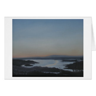 Blank Greeting Card Hudson River Landscape