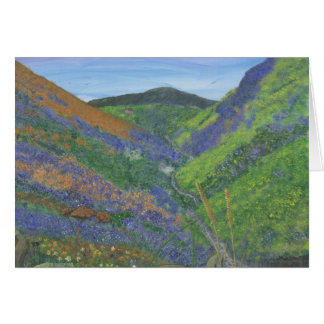 Blank Greeting Card - Spring Time in the Mountains