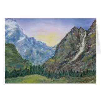 Blank greeting card with Grand Tetons