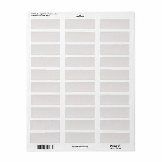 Blank grey save the date return address label