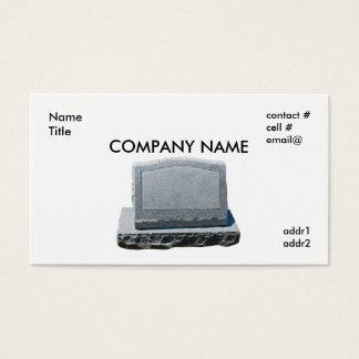 blank headstone business card