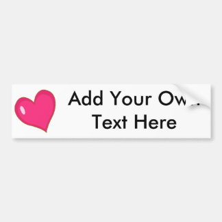 Blank Heart Bumper Sticker