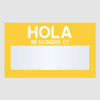 Blank Hello My Name Is ... Customizable Rectangular Sticker