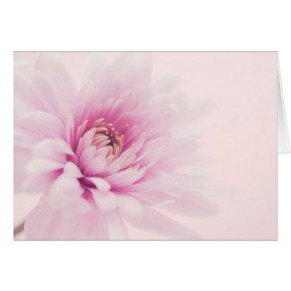 blank horizontal flower greeting card