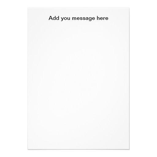 Blank Insert Card Custom Announcements