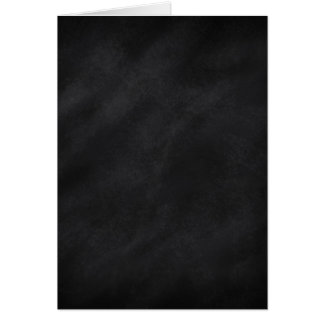 Blank Inside Retro Black Chalkboard Texture Card