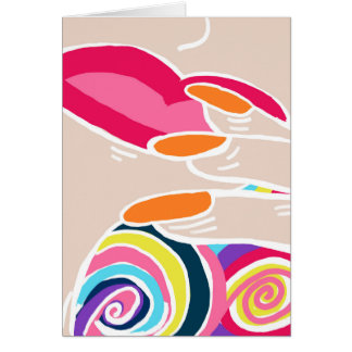 Blank Inside Unique Modern Fauvism Pop Art Card
