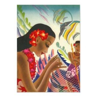 Blank Invitation Invite Tiki Tropical Luau Party