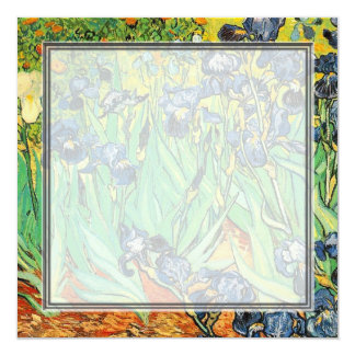blank invitation, van Gogh Irises 13 Cm X 13 Cm Square Invitation Card