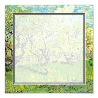 blank invitation. van Gogh Orchard in Blossom 13 Cm X 13 Cm Square Invitation Card