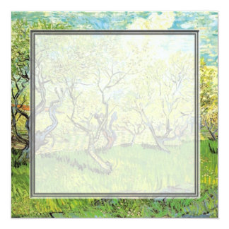 blank invitation. van Gogh Orchard in Blossom Card