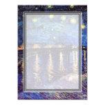 blank invitation, van Gogh starry night
