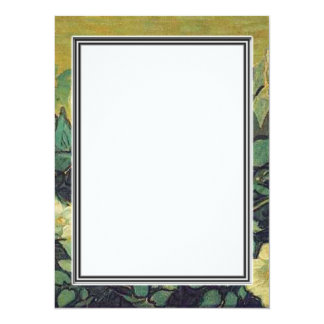 Blank invitation, Van Gogh Wild Roses 14 Cm X 19 Cm Invitation Card