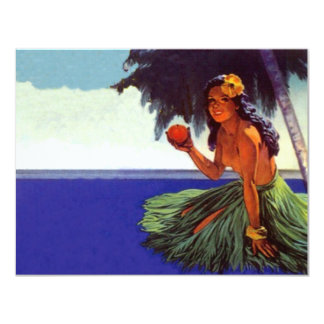 Blank Invitations Vintage Tropical Isle Luau Party