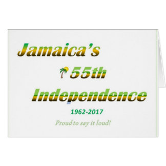 Blank Jamaican Independence Card