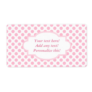 Blank Labels Personalised Labels Pink Polka Dots