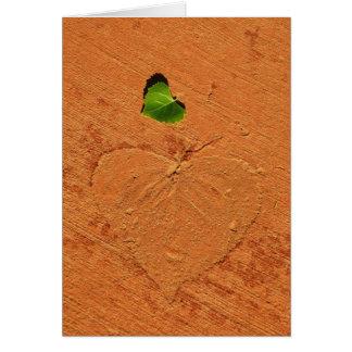 Blank Leaf Greeting Cards