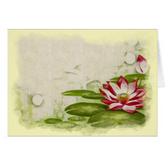 Blank Lily Pad Floral Greeting Card