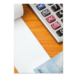 Blank list with Canadian dollars and calculator Custom Invite